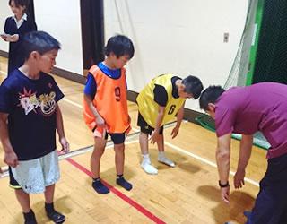 少年バスケチームのコンディショニング